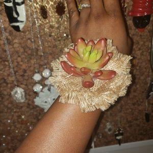 Unique  dessert flower bracelet